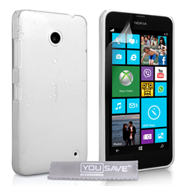 Yousave Accessories Nokia Lumia 630 White Raindrop