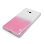 Yousave Accessories Nokia Lumia 930 Raindrop Hard Case - Baby Pink-Clear