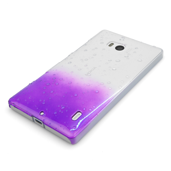 Yousave Accessories Nokia Lumia 930 Raindrop Hard Case - Purple-Clear