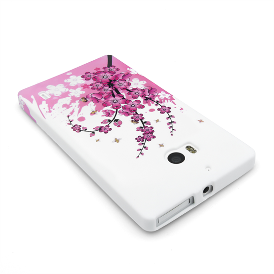Yousave Accessories Nokia Lumia 930 Floral Bee Silicone Gel Case