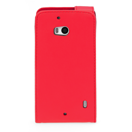 Yousave Accessories Nokia Lumia 930 Leather-Effect Flip Case - Red