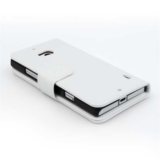 Yousave Accessories Nokia Lumia 930 Leather-Effect Wallet Case - White