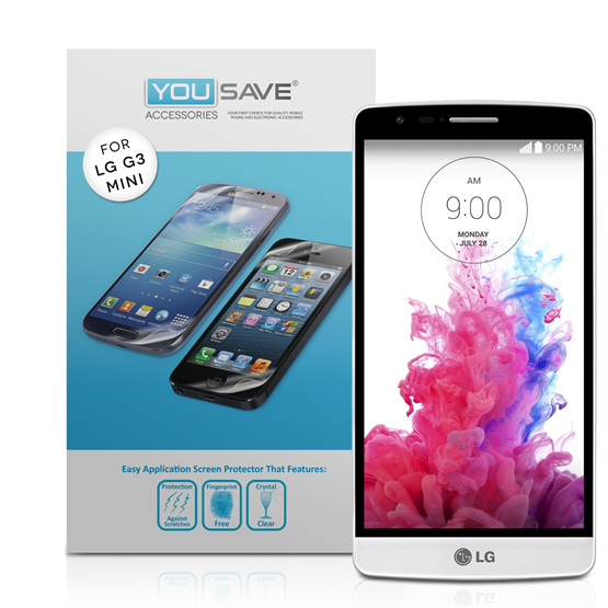 Yousave Accessories LG G3 S Screen Protector - 3 Pack