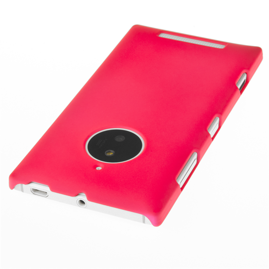 Yousave Accessories Nokia Lumia 830 Hard Hybrid Case - Hot Pink