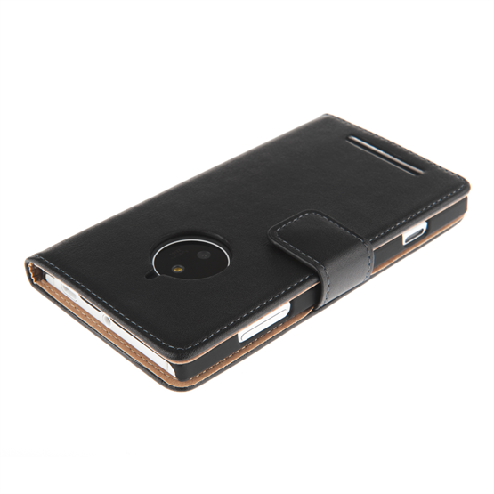 Yousave Accessories  Nokia Lumia 830 Black Real Leather Wallet