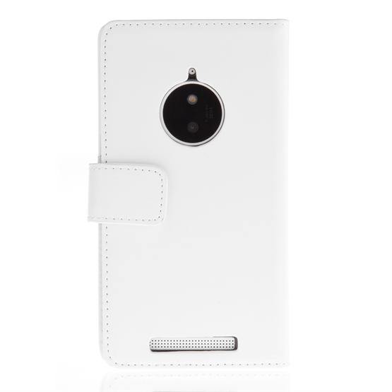 Yousave Accessories Nokia Lumia 830 Leather-Effect Wallet Case - White