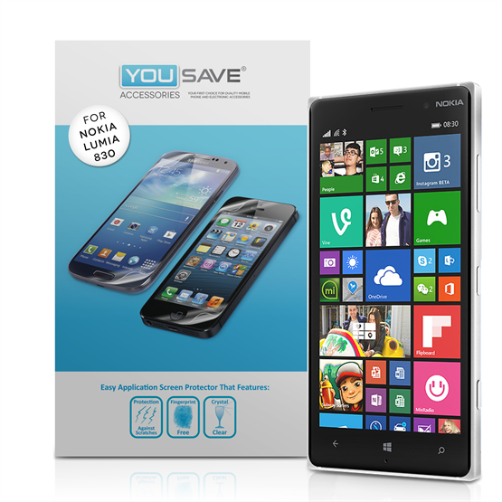 Yousave Accessories Nokia Lumia 830 Screen Protector - 3 Pack