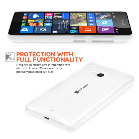 Yousave Accessories Microsoft Lumia 535 Crystal Clear