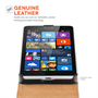 YouSave Accessories Nokia Lumia 535 Real Leather Flip- Black