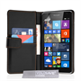 Yousave Accessories Microsoft Lumia 535 Leather-Effect Wallet Case - Black