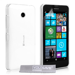 Yousave Accessories Microsoft Lumia 532 Hard Case - Crystal Clear