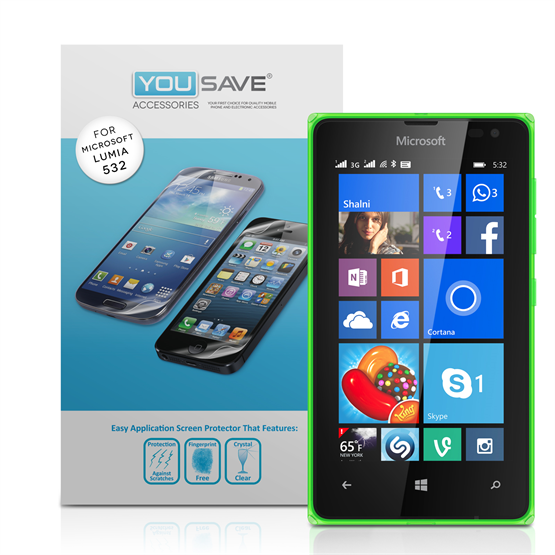 Yousave Accessories Accessories Nokia Lumia 532 Screen Protectors X3