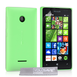 Yousave Accessories Microsoft Lumia 435 Silicone Gel Case - Clear