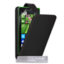 Yousave Accessories Microsoft Lumia 435 Leather-Effect Flip Case - Black