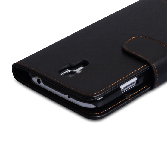 Yousave Accessories Samsung Galaxy S4 Leather Efffect Wallet Case - Black (T)