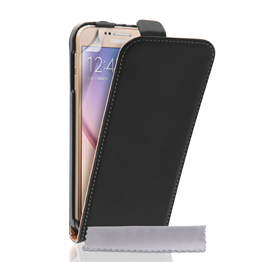 Yousave Accessories Samsung Galaxy S Leather Flip Black Case