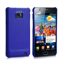 Yousave Accessories Samsung Galaxy S2 Blue Mesh Hybrid