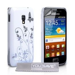 Yousave Accessories Samsung Galaxy Ace IMD White Case