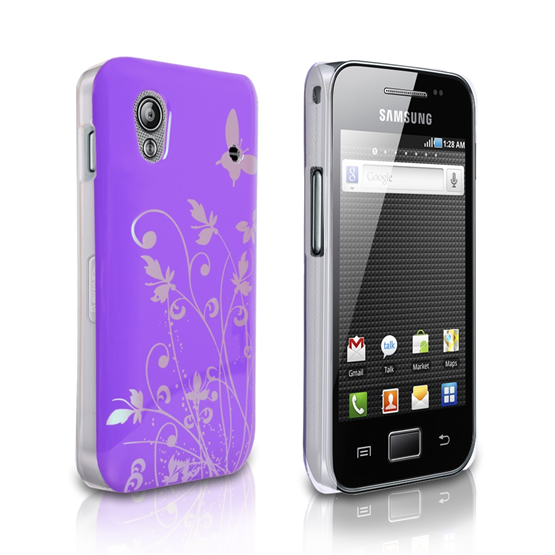 Yousave Accessories Samsung Galaxy Ace Purple IMD Hard Case