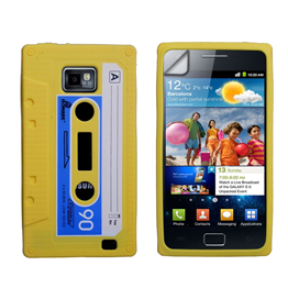 Yousave Accessories Yellow Cassette Tape Samsung Galaxy I9100