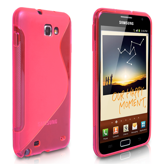 Yousave Accessories Samsung Galaxy Note Pink S Line Gel