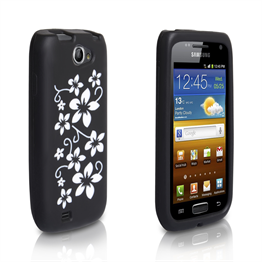 Yousave Accessories Samsung Galaxy W Black Floral Silicone Case