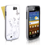 Yousave Accessories Samsung Galaxy W White/Silver Floral Butterfly IMD Case