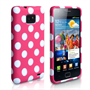 Yousave Accessories Samsung Galaxy S3 Polka Dot Hot Pink Case