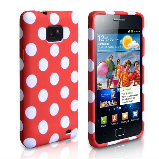 Yousave Accessories Samsung Galaxy S3 Polka Dot Red Case