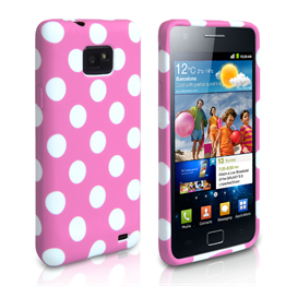 Yousave Accessories Samsung Galaxy S3 Polka Dot Baby Pink Case