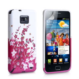 Yousave Accessories Samsung Galaxy S2 Flower (Design 3) Purple Case