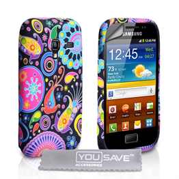 Yousave Accessories Samsung Galaxy Ace Plus Jellyfish Multicoloured Case
