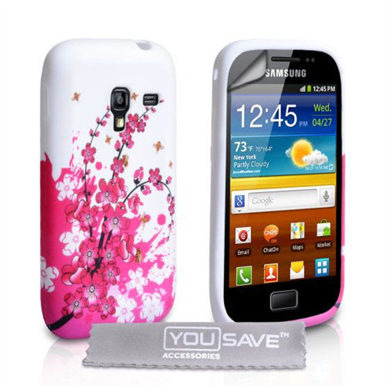 Yousave Accessories Samsung Galaxy Ace Plus Floral Bee Gel Case