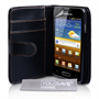Yousave Accessories Samsung Galaxy S Advance Wallet Pu Black Case