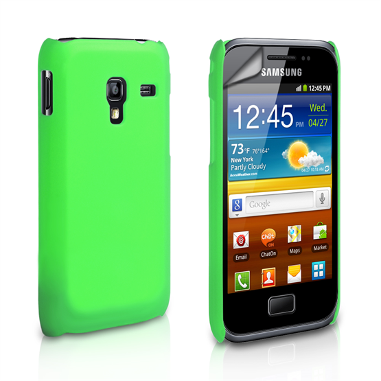 Yousave Accessories Samsung Galaxy Ace Plus Hybrid Green Case