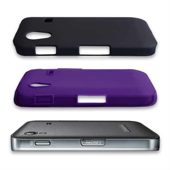 Yousave Accessories Samsung Galaxy Ace Dual Combo Purple