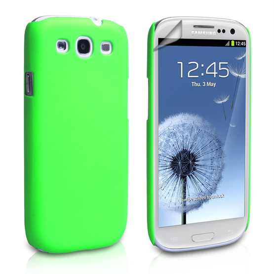 Yousave Accessories Samsung Galaxy S3 Green Hybrid Hard Case