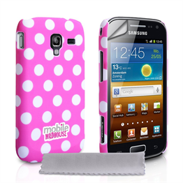Mobile Madhouse Samsung Galaxy Ace 2 Hot Pink Polka Dot Hard Case