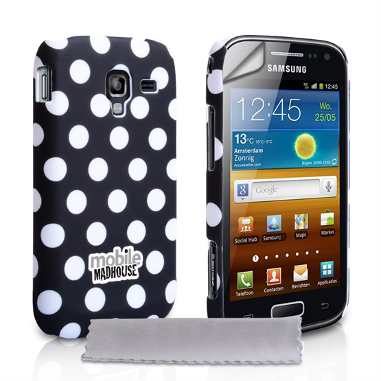 Yousave Accessories Samsung Galaxy Ace 2 Hybrid Black Case