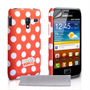 Mobile Madhouse Samsung Galaxy Ace Plus Red Polka Dot Hard Case