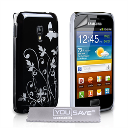 Yousave Accessories Samsung Galaxy Ace Plus IMD Black Case