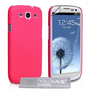 Yousave Accessories Samsung Galaxy S3 Hot Pink Mesh Hard Case