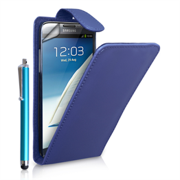 Yousave Accessories Samsung Galaxy Note 2 Flip Pu Dark Blue Case
