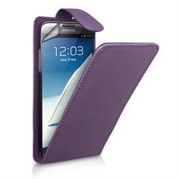 Yousave Accessories Samsung Galaxy Note 2 Purple PU Leather Flip Case
