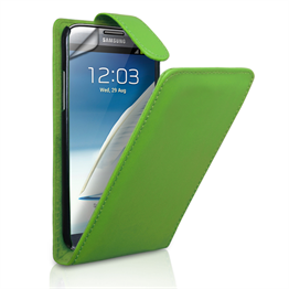 Yousave Accessories Samsung Galaxy Note 2 PU Flip Green Case