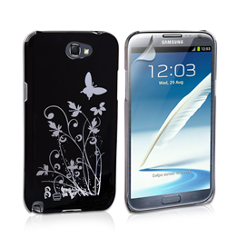 Yousave Accessories Samsung Galaxy Note 2 IMD Black Case