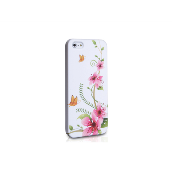 Yousave Accessories Samsung Galaxy S2 Butterfly Flower (Design 5) Multicoloured Case