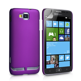 Yousave Accessories Samsung Galaxy Ativ S Hybrid Purple Case