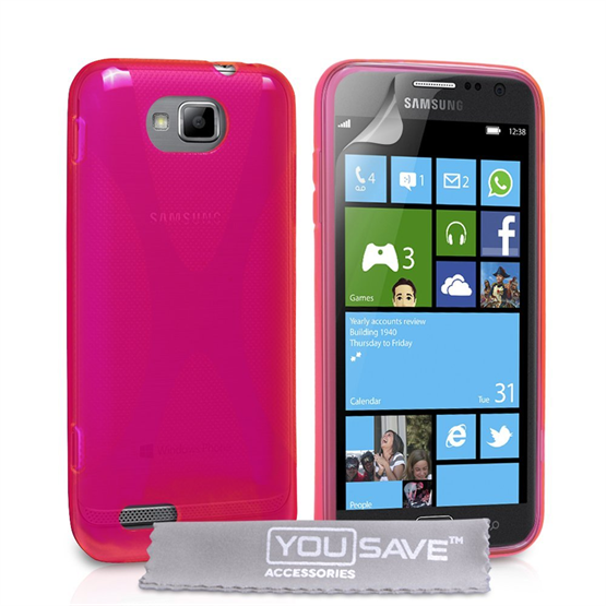 Yousave Accessories Samsung Galaxy Ativ S Hot Pink X-Line