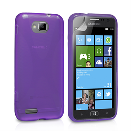 Yousave Accessories Samsung Galaxy Ativ S X-Line Purple Case